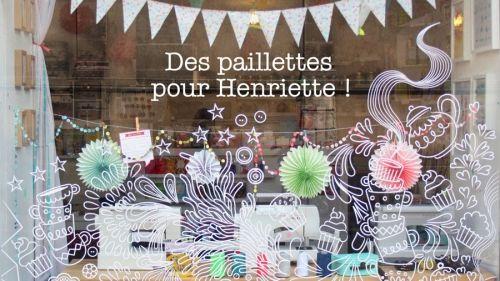 affiche, henrye t henriette, mercerie, créative, Nantes