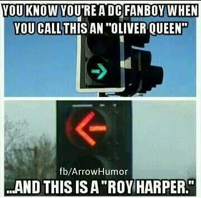 The Arrow funny meme. I've actually never have seen a red arrow, only green and yellow I know it's not flash but I had to