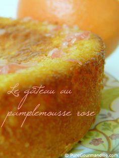 Gâteau au pamplemousse rose