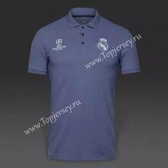2017/18 Real Madrid Gray Thailand Polo Shirt