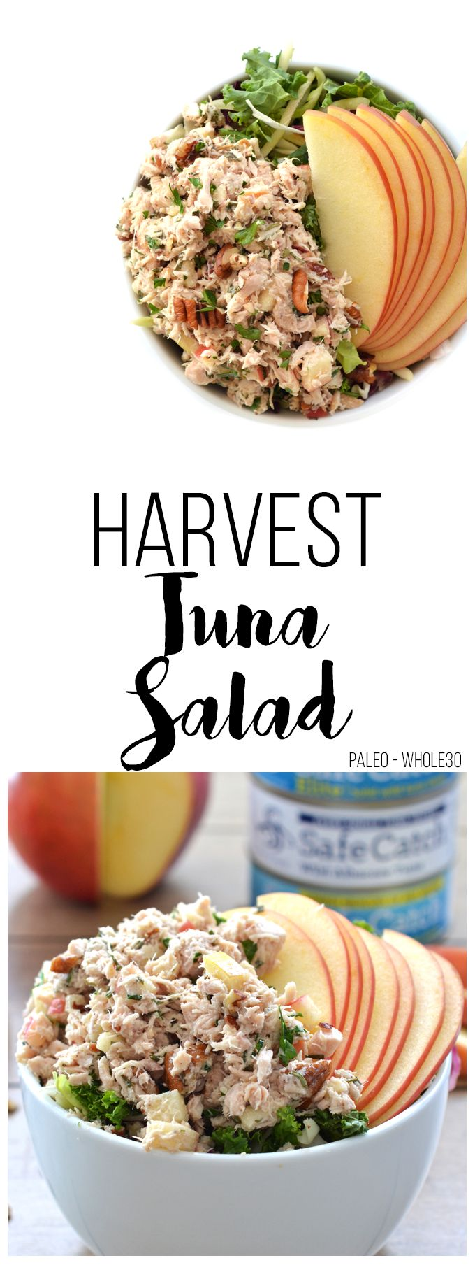 This Harvest Tuna Salad is the perfect quick meal for lunch or dinner! It is paleo, whole30 and full of fall flavors!