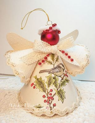 *Christmas angels -- beautiful way to recycle cards... take to your local…