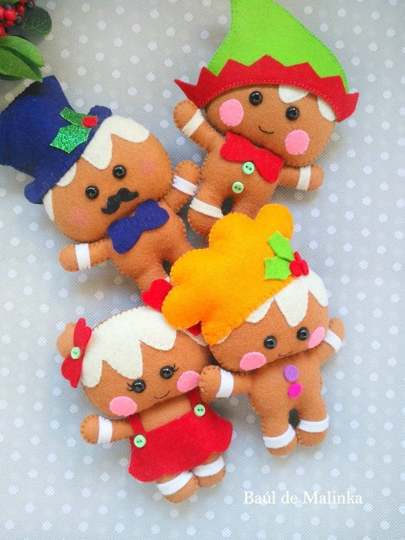 Felt Gingerbread Pattern Christmas Ornaments Pdf Christmas