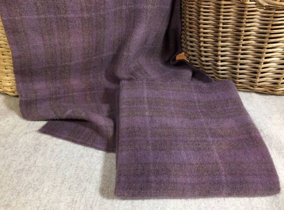 Old Lavender Hand-Dyed Wool Fabric for Rug Hooking Applique