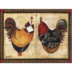 Tile Mural - Welcome Roosters - Kitchen Backsplash Ideas - Farmhouse - Tile Murals - by The Tile Mural Store (USA)