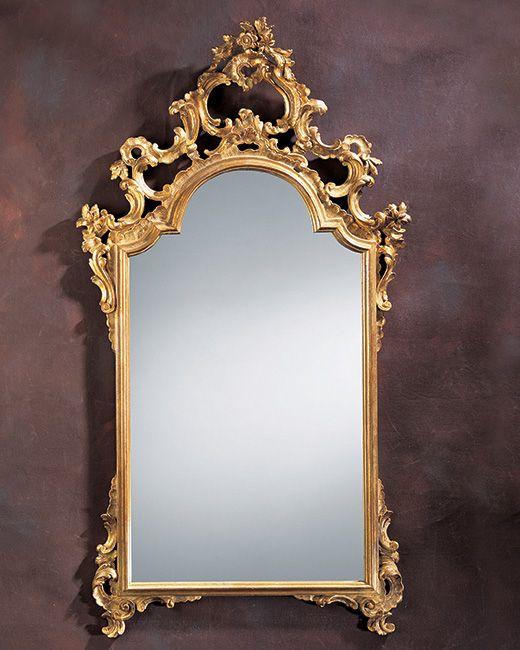 mirror - Italian mirror - 18th century Italian style carved wood mirror ingold leaf finish