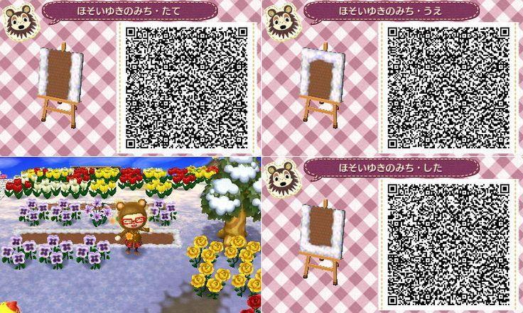 Animal Crossing Snow path QR code AcnlTips animal