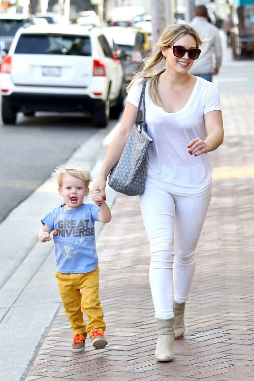 Hilary Duff was spotted with her son Luca, 22 months, in Beverly Hills, Calif. on Monday (January 27)