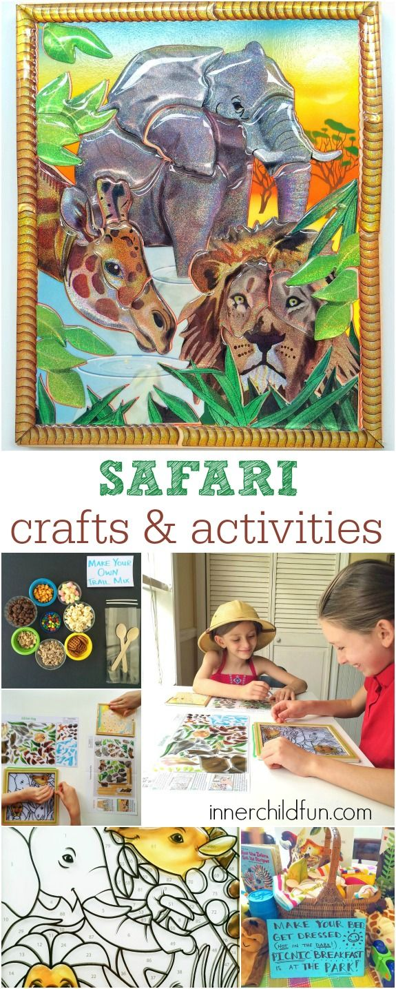 Safari Crafts and Activities - These look like so much fun and a great way to keep the kids learning this Summer! #sponsored