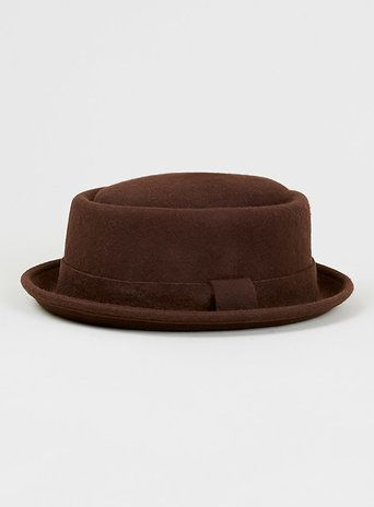Brown Mini Pork Pie Hat - Hats - Shoes and Accessories