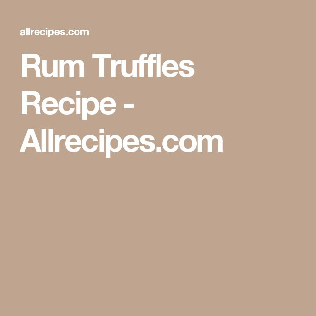 Rum Truffles Recipe - Allrecipes.com
