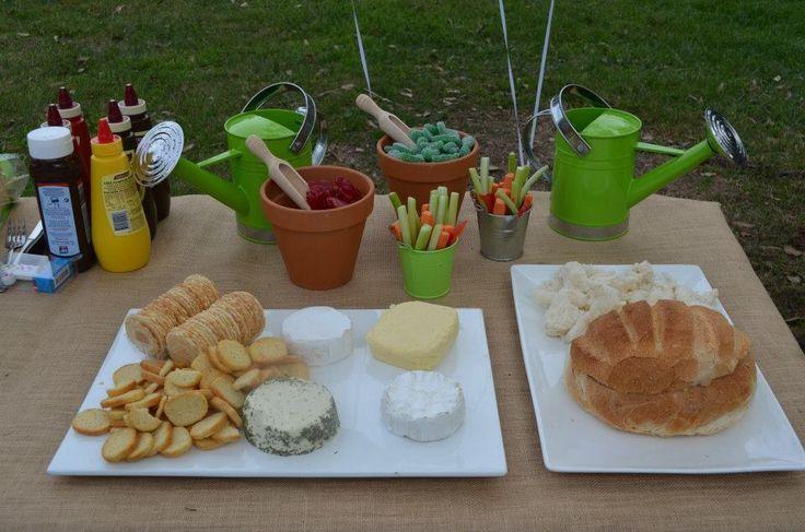 Garden/backyard themed treats for the grown ups :)