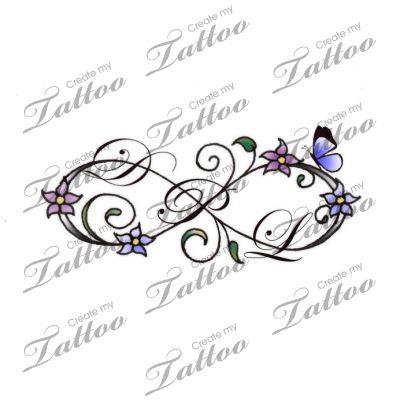 Infinity initials | Infinity initials #148365 | CreateMyTattoo.com