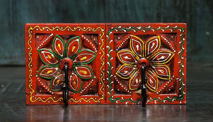 Вешалка, дерево, роспись / Вешалки / КАТАЛОГ / мебель из массива, Индийская мебель, Восточная мебель