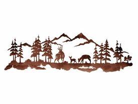 Deer Family Metal Wall Art