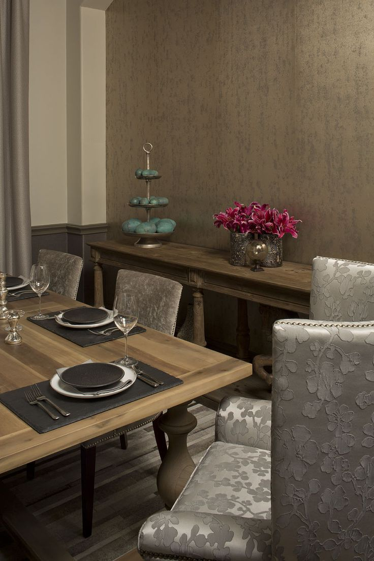 The Combination Of Wood Fabric And Metals Add Textural Interest To Space Both