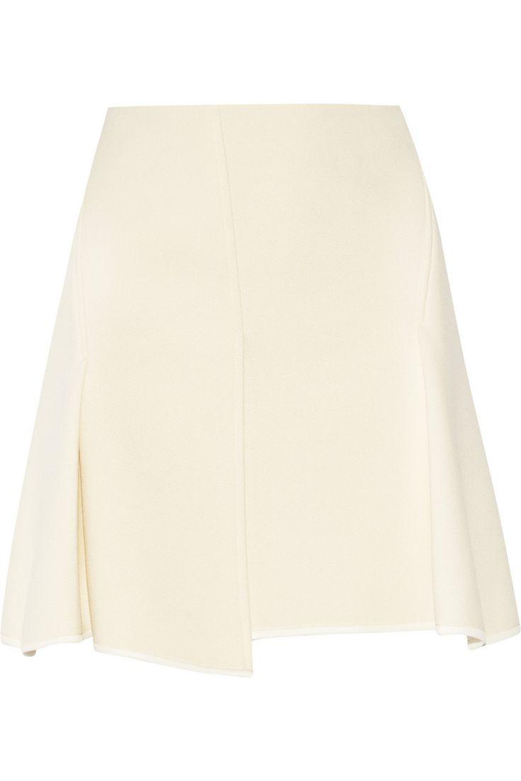 Alexander Wang|Pleated textured-neoprene mini skirt|NET-A-PORTER.COM