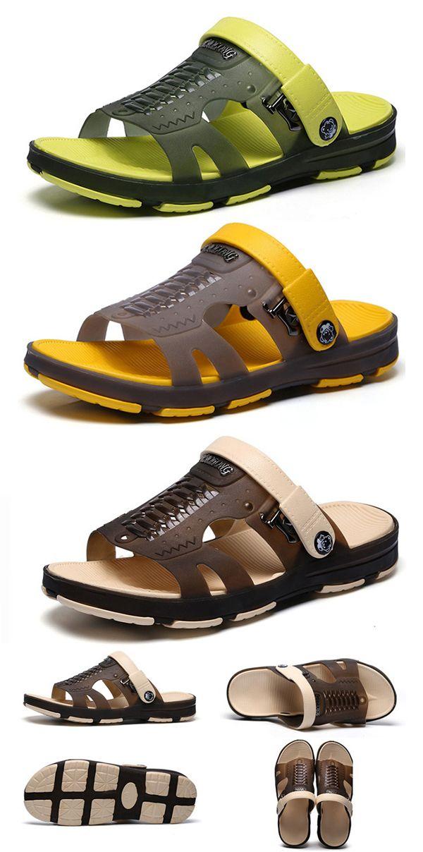 6c6bb215cf7  2   US 33.96 US 18.11--Mens Hole Soft Water Sandals  Casual Beach Shoes watershoes   sandals  beach  shoes