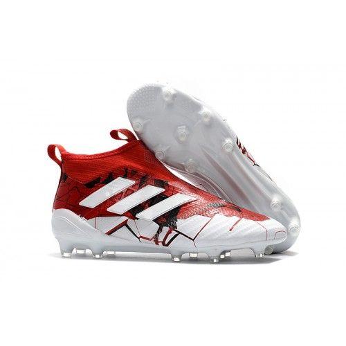 Adidas ACE - Adidas Ace 17+ PureControl FG Fodboldstøvler Rød Hvid