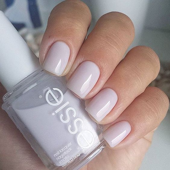 icy blush manicure is great for any occasion
