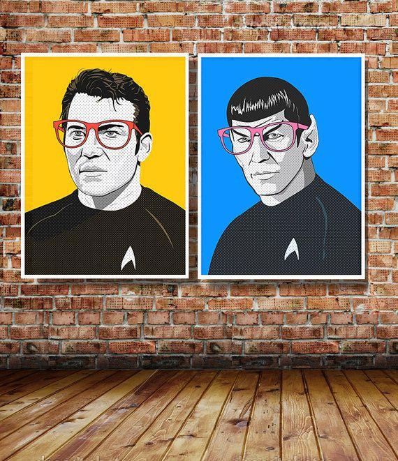 Star Trek James T Kirk OR Spock Pop Art by CreativeSpectator