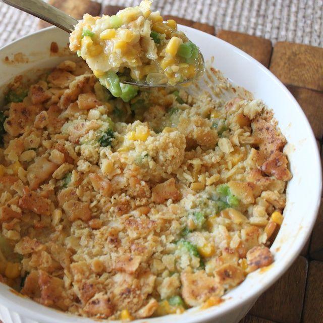 Chicken In A Biskit veggie casserole
