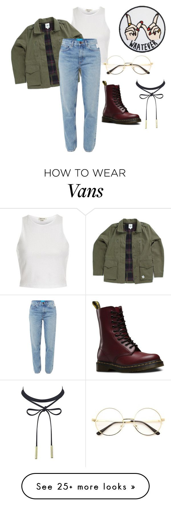 """☕️"" by fashionidea5 on Polyvore featuring River Island, Vans, M.i.h Jeans and Dr. Martens"