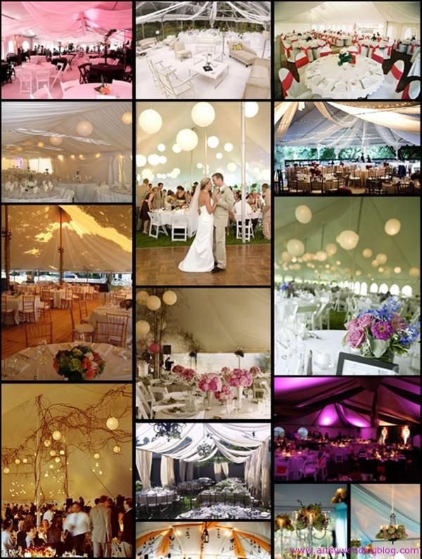 Wedding Tent Decorations And Ideas On Pinterest