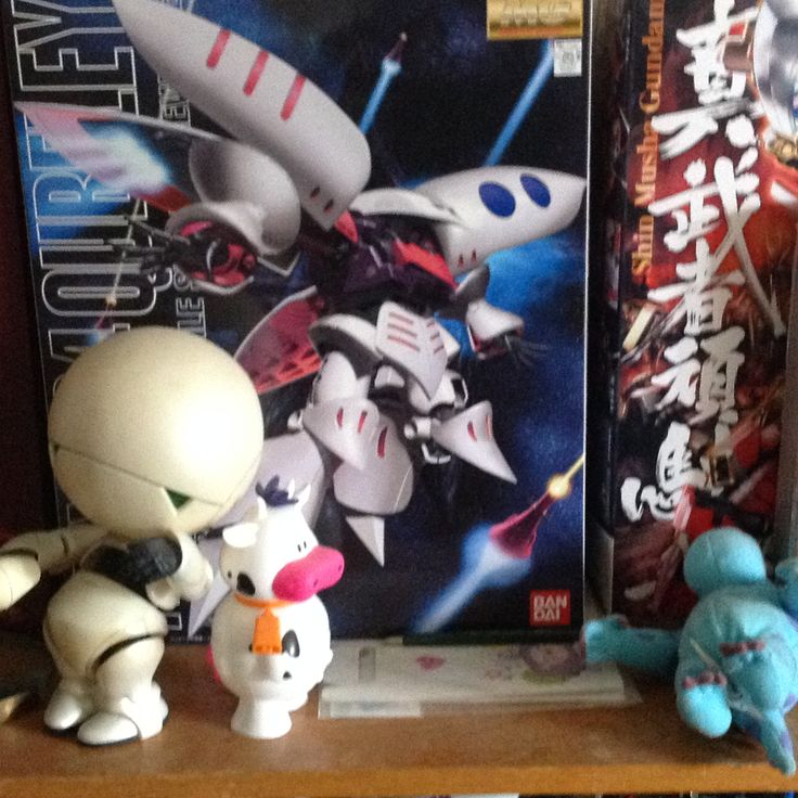 Marvin Boo and some gundam box art.