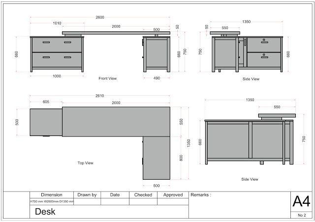 Drawing Desk Gambar Meja Belajar Belajar Storage Meja Kantor