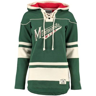 Women's Minnesota Wild Old Time Hockey Green Alternate Lacer Heavyweight Hoodie