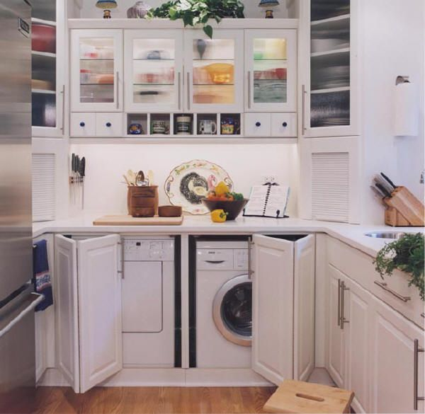 For the farm house, split the doors and put a shelf over them for more storage! Brilliant