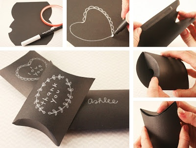 Chalkboard Pillow Boxes created by Pebbles in my Pocket