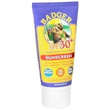 Badger Sunscreen. The owner of this company came to my marketing class. Its supposed to be all natural. Want to try!!!!!