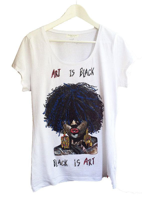 Afro Tshirt Afrocentric T shirt Natural Hair t-shirt – QuorArtisticTshirts