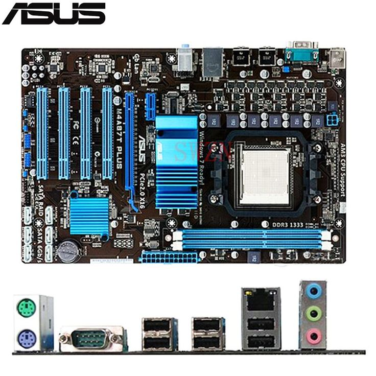 original Used Desktop motherboard For ASUS M4A87T PLUS A87support Socket AM3 2*DDR3 support 8G 6*SATA3 ATX #Affiliate