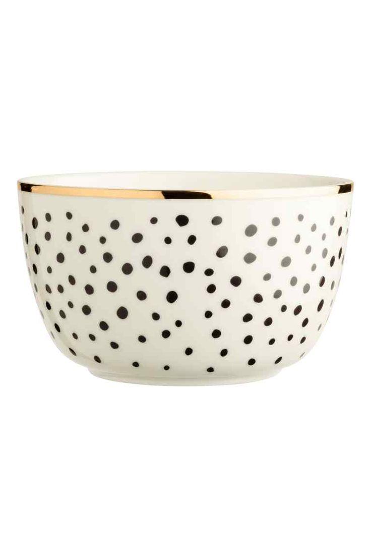 Pöttyös porcelántál - Fehér - HOME | H&M HU 1