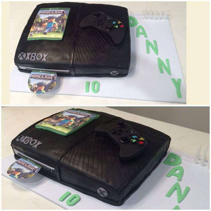 #xboxonecake, #xboxoneminecraftcake