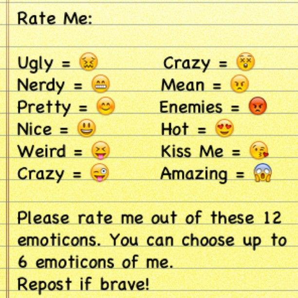Rate me pictures for facebook rate me and choose up to 6 emoticons