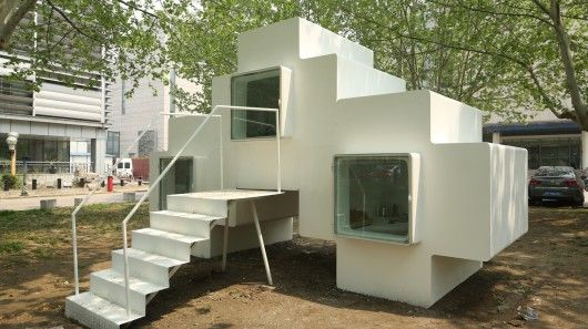Applying a Tetris-like approach to house design, Chinese architectural firm Studio Liu Lubin has created a Micro-house featuring compact, multiple interior zones that can stacked together or used as a stand alone dwelling.