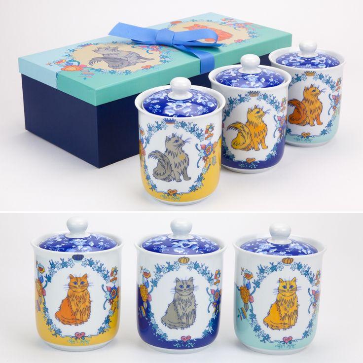 Conjunto de 3 Caixas Her Majesty The Cat | A Loja do Gato Preto | #alojadogatopreto | #shoponline | referência 130666715