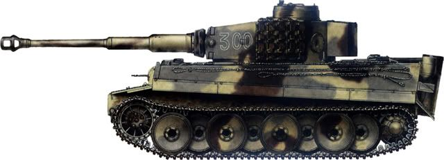 Tiger H/E camouflage patterns - Kursk, July 1943 sPzAbt505