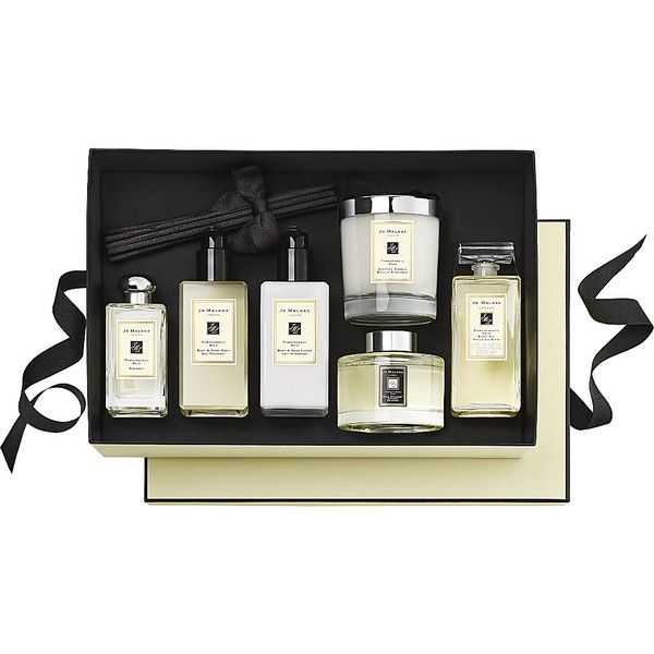 Pomegranate Noir luxury gift set (€345) found on Polyvore featuring beauty products, gift sets & kits, eau de cologne, jo malone cologne and jo malone