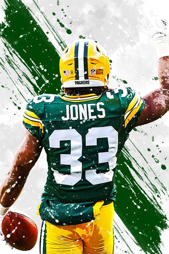 Aaron Jones Green Bay Packers Poster Print Sports Art Etsy In 2020 Green Bay Packers Jerseys Green Bay Packers Wallpaper Green Bay Packers