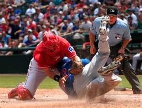 Catcher Matt Treanor...one of my all time favs!!! I will miss him this season.