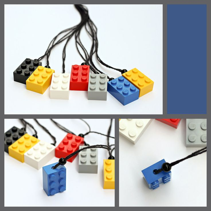 Lego Necklaces - another space I would like to add to my art studio will be a lego corner. I love building them, and would liike to try some sculpture with them too.