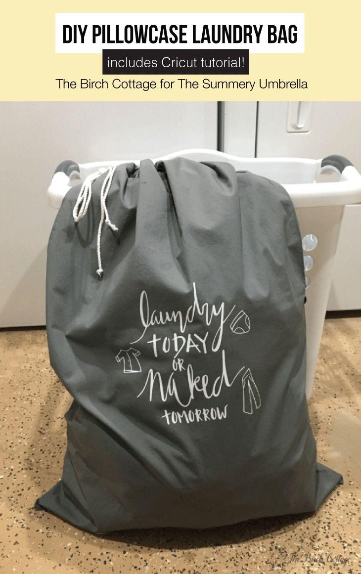 How To Make A Diy Pillowcase Laundry Bag Pillow Cases Diy