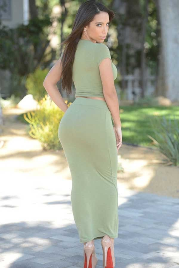 Light Green V Neck Twisted Top Maxi Skirt 2pc Dress @ Cheap Maxi Dresses,Midi Dresses,Long Maxi Dresses,Women Maxi Dresses,Cheap Midi Dresses,Short Maxi Dresses,Floral Maxi Dresses,Chiffon Maxi Dresses,Summer Maxi Dresses,Maxi Dresses For Sale,Maxi Dresses Online,Long Dresses,Cheap Long Dresses