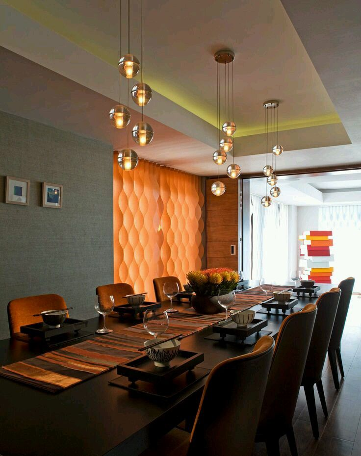 Lighting Design Blown Glass Dining Tables Rooms Pandora