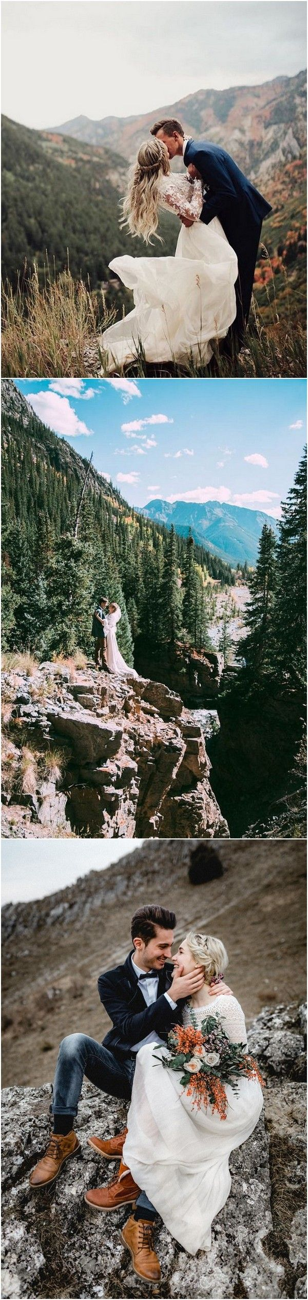 romantic wedding photo ideas in the mountains